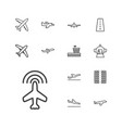 airplane icons vector image vector image