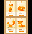 Animal banner with Foxes for web design 1 vector image