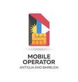 antigua and barbuda mobile operator sim card with vector image