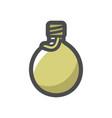 army green flask icon cartoon vector image