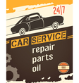 Auto Service Vintage Style Poster vector image