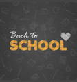 Back to school background with hand written text