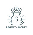 bag with money line icon bag with money vector image vector image
