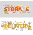 banners for storage and delivery vector image vector image