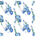 beautiful seamless pattern iris flowers vector image vector image