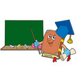 book teacher with blackboard vector image