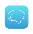 Brain line icon vector image