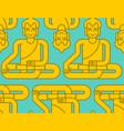 buddha golden statue pattern meditation and vector image