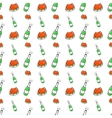 Christmas Seamless Pattern with Champagne vector image vector image