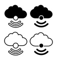 Cloud with wireless symbol icon vector image