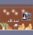 creative coworking freelance area interior design vector image