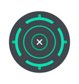 cross aim target icon flat style vector image vector image