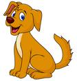 Cut dog sitting vector image vector image