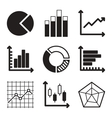 Diagram Icons Set vector image vector image
