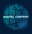 digital content round blue outline vector image