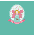 doll theme scrapbook card vector image