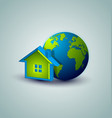Earth and house icon vector image vector image