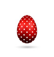 easter egg 3d icon red color egg isolated white vector image vector image