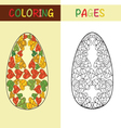 easter eggs for coloring book vector image
