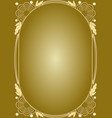 elegant luxury golden floral patterns frame in vector image vector image