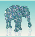 elephant in asian style mandala style blue vector image vector image