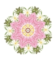 Floral frame circle for your design vector image vector image
