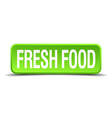 fresh food green 3d realistic square isolated vector image vector image