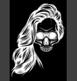 girl with skeleton make up hand drawn vector image vector image