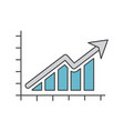 growth arrow icon grey and blue on white vector image