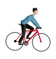 guy rider bike transport vector image vector image