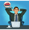 Happy Businessman with Laptop Office Worker vector image vector image