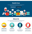 health care website design vector image vector image