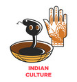 indian culture symbols vector image vector image
