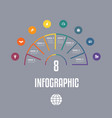 infographic template from colourful lines vector image vector image