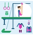 Items for gymnastics vector image vector image