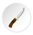 knife icon circle vector image vector image