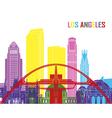 Los Angeles skyline pop vector image vector image