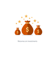 Lottery award prize for win rich and wealthy vector image vector image