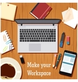 Make your workspace banner1 vector image vector image