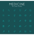 Medical icons pack vector image
