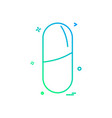 medicine icon design vector image vector image
