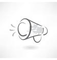 megaphone grunge icon vector image vector image