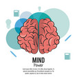 mind power poster vector image vector image
