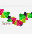 modern colorful geometrical triangles with shiny vector image vector image