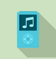 modern music player icon flat style vector image