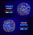 money finance banners vector image vector image