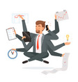 multitasking businessman office worker making vector image vector image