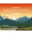 nautre landscape infographic vector image vector image