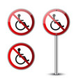 no disabled signs vector image vector image