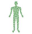 oak leaf person figure vector image
